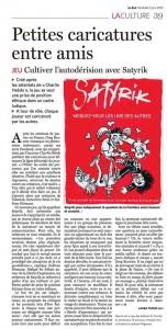 Le Soir Article du 5 juin 2015